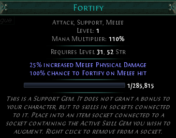 Path of Exile - Fortify Skill